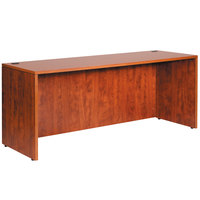 Boss N143-C Cherry Laminate Credenza Shell - 71 inch x 24 inch x 29 inch