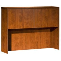 Boss N339-C Cherry Laminate Two Door Hutch - 48 inch x 12 inch x 36 inch