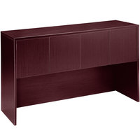 Boss N144-M Mahogany Laminate Four Door Hutch - 71 inch x 15 inch x 36 inch