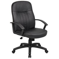 Boss B8106 Black Executive Leather Budget Chair