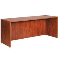 Boss N111-C Cherry Laminate Credenza Shell - 66 inch x 24 inch x 29 1/2 inch