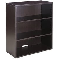 Boss N153-MOC Mocha Laminate 3-Shelf Hutch / Bookcase - 31 inch x 14 inch x 36 inch