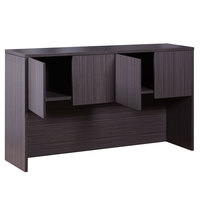 Boss N140-DW Driftwood Laminate Four Door Desk Hutch - 66 inch x 15 inch x 36 inch