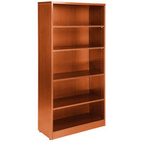 Boss N158-C Cherry Laminate 5-Shelf Bookcase - 31 inch x 14 inch x 65 1/2 inch