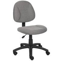 Boss B315-GY Grey Tweed Perfect Posture Deluxe Office Task Chair
