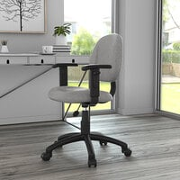 Boss B316-GY Grey Tweed Perfect Posture Deluxe Office Task Chair with Adjustable Arms