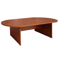 Boss N135-C Cherry Laminate 71 inch x 35 inch Oval Conference Table