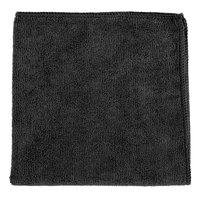 Knuckle Buster MFMP16BK 16 inch x 16 inch Black Microfiber Cleaning Cloth - 12/Pack