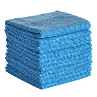 Knuckle Buster MFMP12BL 12 inch x 12 inch Blue Microfiber Cleaning Cloth