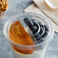 Fabri-Kal LGC16/24F Greenware 16, 20, and 24 oz. Compostable Clear Plastic Flat Lid without Straw Slot - 1000/Case