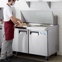 Avantco APT-48M-HC 48 inch 2 Door Mega Top Refrigerated Sandwich Prep Table