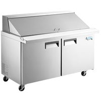 Avantco APT-60M-HC 60 inch 2 Door Mega Top Refrigerated Sandwich Prep Table