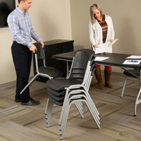 Lifetime 80569 Black Stacking Chair - 14/Pack
