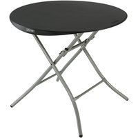 Lifetime 80351 33 inch Black Round Folding Table