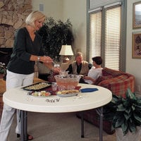 Lifetime 22968 46 inch Round Almond Plastic Folding Table
