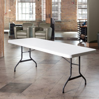 Lifetime 22980 96 inch x 30 inch White Granite Plastic Folding Table