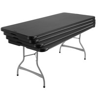 Lifetime 480350 72 inch x 30 inch Black Plastic Nesting Folding Table - 4/Pack