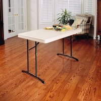 Lifetime 80568 48 inch x 30 inch Almond Plastic Folding Table