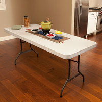 Lifetime 22900 72 inch x 30 inch Almond Plastic Folding Table