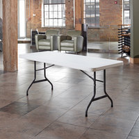 Lifetime 22901 72 inch x 30 inch White Granite Plastic Folding Table