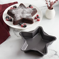 Wilton 2105-6185 12 inch x 2 inch Non-Stick Steel Star Shaped Cake Pan