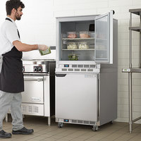 Beverage-Air UCR27AHC-23 Double Stacked 27 inch Undercounter Refrigerator and 3 inch Casters