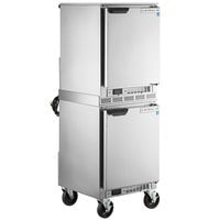 Beverage-Air UCF20HC Double Stacked 20 inch Undercounter Freezer with 6 inch Casters