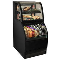 Structural Concepts Harmony HMBC2-QS Black 27 inch Refrigerated Dual Service Merchandiser Case - 120V