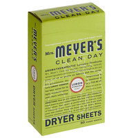 Mrs. Meyer's Clean Day 651355 80-Count Lemon Verbena Dryer Sheets - 12/Case