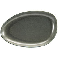 Front of the House SPT056DGP20 Kiln 14 inch x 9 inch Sage Porcelain Oval Plate - 2/Pack
