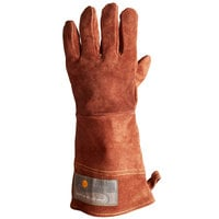 Outset® 15 inch Brown Leather Oven / Grill Gloves