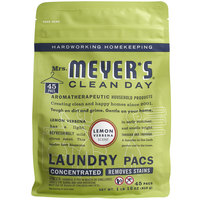 Mrs. Meyer's Clean Day 306113 Lemon Verbena 45-Count Laundry Detergent Pack - 6/Case