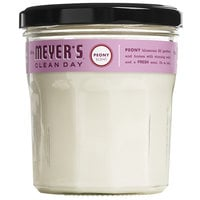 Mrs. Meyer's Clean Day 316562 4.9 oz. Peony Scented Wax Candle - 6/Case