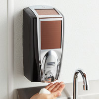 Rubbermaid 1980826 Lumecel™ 1100 mL Black / Chrome Automatic Hands Free Soap Dispenser