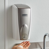 Rubbermaid FG750140 Autofoam 1100 mL White / Grey Pearl Automatic Hands-Free Soap Dispenser