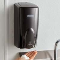 Rubbermaid FG750127 Autofoam 1100 mL Black / Black Pearl Automatic Hands-Free Soap Dispenser