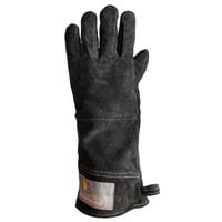 Outset® 15 inch Black Leather Oven / Grill Gloves