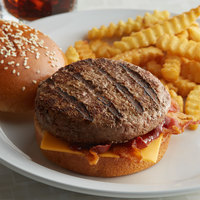 Warrington Farm Meats 8 oz. Frozen Burger Patty 85% Lean 15% Fat - 20/Case
