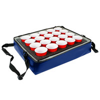 Sterno Royal Blue Customizable Stadium Insulated Drink Holder / Carrier, 24 inch x 20 inch x 6 inch - Holds 20 Cups