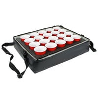 Sterno Black Customizable Stadium Insulated Drink Holder / Carrier, 24 inch x 20 inch x 6 inch - Holds 20 Cups