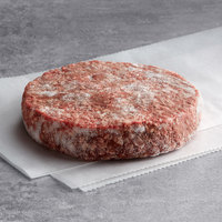 Warrington Farm Meats 8 oz. Frozen Burger Patty 80% Lean 20% Fat - 20/Case