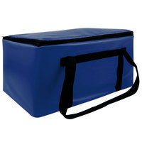 Sterno Royal Blue Customizable Space Saver Catering Large Insulated Food Carrier, 16 inch x 24 inch x 14 inch - Holds 3 Full Size or 6 Half Size Food Pans