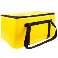 Sterno Yellow Customizable Space Saver Catering Large Insulated Food Carrier, 16 inch x 24 inch x 14 inch - Holds 3 Full Size or 6 Half Size Food Pans
