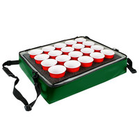 Sterno Kelly Green Customizable Stadium Insulated Drink Holder / Carrier, 24 inch x 20 inch x 6 inch - Holds 20 Cups