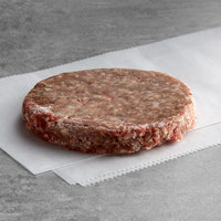 Warrington Farm Meats 4 oz. Frozen Burger Patty 80% Lean 20% Fat - 40/Case