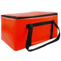 Sterno Red Customizable Space Saver Catering Large Insulated Food Carrier, 16 inch x 24 inch x 14 inch - Holds 3 Full Size or 6 Half Size Food Pans
