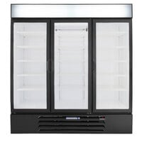 Beverage-Air MMR72HC-1-BB MarketMax 75 inch Black Glass Door Merchandiser Refrigerator with Black Interior