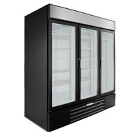 Beverage-Air MMR72HC-1-BS MarketMax 75 inch Black Glass Door Merchandiser Refrigerator with Stainless Steel Interior