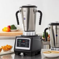 Avamix BX1GRGT2J 3 3/4 hp 1 Gallon Stainless Steel High Volume Commercial Food Blender with Timer and Two Jars