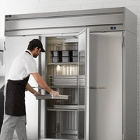 Beverage-Air HR3HC-1S Horizon Series 78 inch Top Mounted Solid Door Reach-In Refrigerator